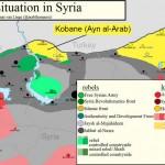Karte von Rojava