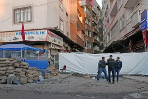 13.03.2016, Diyarbakir, Stadtteil Sur, Gazi Cd.