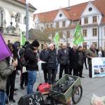 Kundgebung zum Prozessbeginn gegen Mustafa Çelik in Celle
