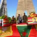 Beisetzungszeremonie in Kobanê