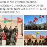 ‼ AUFRUF ZUR ZENTRALEN GROß-KUNDGEBUNG UND GROß-DEMONSTRATION FÜR DIE ÊZÎDEN UND ŞENGAL AM 30.07.2016 UM 13 UHR IN BIELEFELD ‼