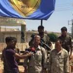 Pressekonferenz mit dem Militärrat von Minbic