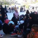 Geflüchtete Familien aus der Region al-Bab