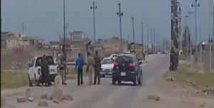 Straßenkontrollen KDP naher Gruppen bei Sinûnê