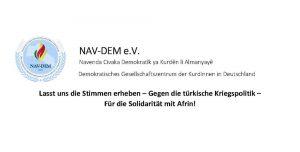 Für die Solidarität mit Afrin!